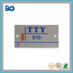 لوحة اسم ملصقات معدنية مطلية بملصق شعار الفولاذ المقاوم للصدأ المخصص حكة