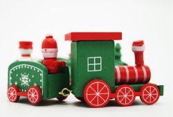 키즈 크리스마스 트레인 장난감 선물 우드 크마스 기차