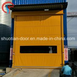 Промышленный электрический ПВХ двери на высокой скорости, высокая скорость подвижной двери, с высокой скоростью затвора ролика двери (ST-001)
