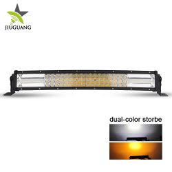 L'éclairage stroboscopique orange blanc dépanneuse Offroad 22 pouces incurvé barre lumineuse à LED