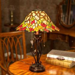 Vente chaude Tiffany Vintage lampe de table en laiton lampe de décoration intérieure