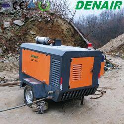 Modelleert 2/4 van Wielen Compressor Met motor van de Diesel de Mobiele Lucht van de Schroef