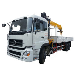 Dongfeng 12 toneladas de 4 brazos de grúa de pluma telescópica de 6x4 ruedas de 10 de 16 toneladas de 270CV IZD sobre camión grúa