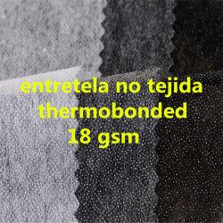 Accessoires du vêtement de gomme d'interligne de séjour de tissu non tissé Microdot interligne