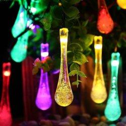 Chute de l'eau 20/30 chaîne solaire LED lumière Festival de Noël pour décorer