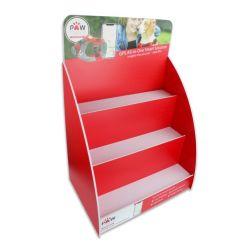 Настраиваемые красный цвет PVC подставка для дисплея 3 уровней