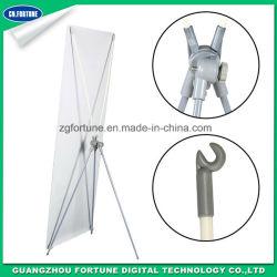 Poteau de fer d'affichage extérieur rotatif X Banner Stand réglable