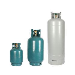 2 كجم/3 كجم/5 كجم/6 كجم/10 كجم/12,5 كجم/15 كجم/20 كجم/25 كجم، قابلة لإعادة الملء بأسعار أسطوانة غاز البترول المسال (LPG) التي تعمل على طهو أسطوانة الغاز للاستخدام المنزلي