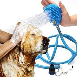 Outil de baignade Pet bain de lavage des pulvérisateurs de nettoyage de gros chien Outil Brosse douche pet