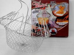 バスケット、食糧Cheのバスケット(TV0210)を揚げるステンレス鋼ワイヤー