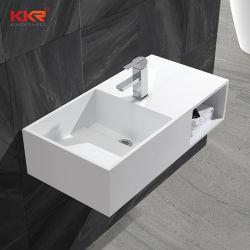 Casa de banho acrílico biscoitos Superfície sólida pedra artificial da bacia de lavar loiça de pedra 0510