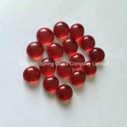 Venda por grosso vermelho decorativas Calhaus de vidro