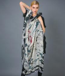 Impreso Digital de la plaza de cachemir estambre para las mujeres bufanda