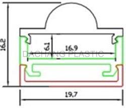 天井アルミニウム LED プロファイル用フォーカスアクリルレンズ