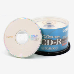 Factory CD en blanco con el paquete de plástico 50pcs 700MB 52X 80min