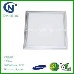 A Samsung SMD5630 6000k 60x60cm 36W Squre Preço de luz do painel de LED
