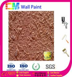 Efecto de Oro la textura de la pintura de pared de concreto