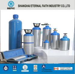 DOT-3 al médico portátil pequeña bombona de gas de oxígeno de aleación de aluminio