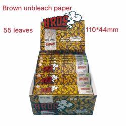 Progettare i documenti per il cliente di rotolamento di fumo organici della canapa della sigaretta dei libretti di Bros Brown 50