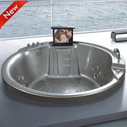 Neues Design Freestanding Round Corner Walk in SPA Bathtub (SR5C002)