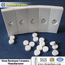 Gebogen Alumina Ceramische Lasbare Tegel voor de Toepassing van de Slijtage