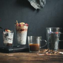 [200/400مل] [بوروسليكت] ضعف جدار زجاجيّة قهوة [إسبرسّو] إبريق فنجان لأنّ إستعمال بينيّة
