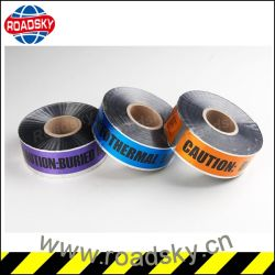 Di alluminio del nastro d'avvertimento rilevabile nel sottosuolo per la protezione del cavo della fibra