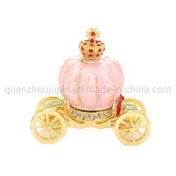 Oem Metal Pink Home Decoratie Pompoen Carriage Artware