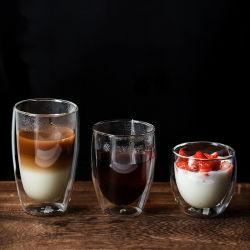 10 anni di esperienza di produzione 80 ml 150 ml 250 ml 350 ml 450 ml 550 ml 650 ml Classic stile doppio parete vetro caffè tè acqua latte Tazza per bere vino