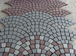 G 654/G 603/G 682/grigio-chiaro/pietra per lastricati granito giallo grigio/arrugginito/cubi scuri del granito per il giardino/sosta/strada privata/passaggio pedonale/paesaggio