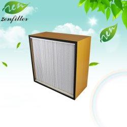 Деревянные рамы фильтр HEPA H13/H14 Микроволокна для больниц, National Semiconductor, электроники и Industrials