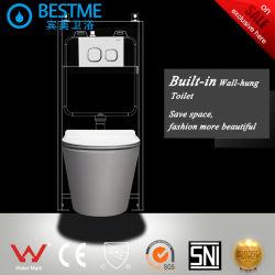 La porcelaine sanitaire Wc mur accroché cuvette des toilettes Nano vitrage Set de toilette BC-2376