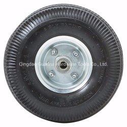 """Ruedas de vagones de madera de juguete 10""""x3.50-4 caucho de neumático de rueda con llanta de acero"""