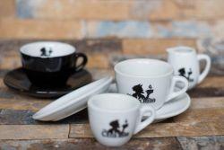 Белые керамические чашки подарок для продвижения на заводе