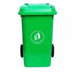 Haut de plein air Qualityt grande poubelle en plastique Corbeille Wastebin avec des roues