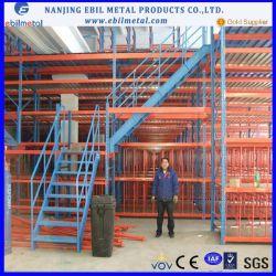 Lager Nanjing-Ebil 2-3 Schichten Speichermezzanin-Zahnstangen-mit Hebezeug