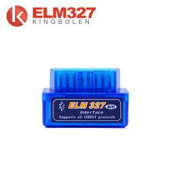 V1.5 Super Mini Elm327 Ulmeiro Bluetooth 327 V 1.5 25K80 Chip Obdii para o Android Torque / leitor de código de carro do PC