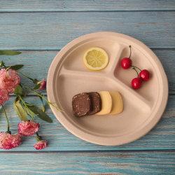 Одноразовые биоразлагаемых 3 - 9 - дюйм 10 - дюйм сахарного тростника целлюлозы торт пластину для пикников и пластины