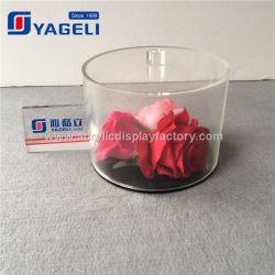Venda a quente Facory Visor de flores em acrílico transparente