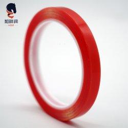 Tesa эквивалент очистить гильзы красного цвета на полиэфирной пленке Strong акриловый клей двухстороннюю ленту для ПЭТ