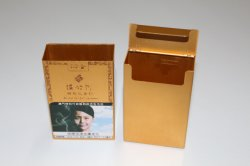 Caja de aluminio ultra-delgado Tin Metal Cigarette caja de soporte de tarjeta para Cigarrillos