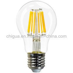 Fabrieksprijs A19/A60 4W/6W/8W E27 dimbare LED-lamp met gloeidraad