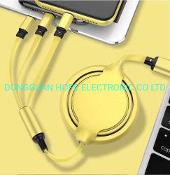 Высокое качество 3 в 1 USB-кабель с возможностью горячей замены продавать Micro type-C iPhone данных и зарядки