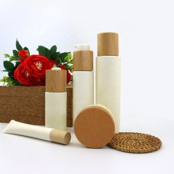 أغطية خشب الزان من الخشب الطبيعي مع قطع بلاستيك من أجل جلدي العناية بالبشرة العناية الشخصية