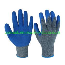 Le latex enduits de produits de sécurité industrielle et du travail de travail Gants Gants enduits de latex bleu