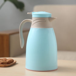 Logotipo personalizado aislamiento Pot hervidores de agua caliente de café de vidrio