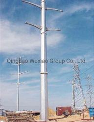 Transmisión de energía eléctrica de alimentación de tensión Suspention poste de acero de la esquina de una sola torre de tubo de hierro Monopole