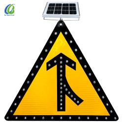Obras viales signo Guía de Seguridad Vial de la señal de tráfico de la energía solar