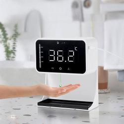 2 en 1 Mayorista Besteye Termómetro IR LC-90 automática de jabón tocar menos de medición de temperaturas y la desinfección de la máquina integrada