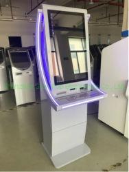 은행의 로비에 있는 셀프서비스 ATM 지불 간이 건축물